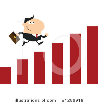 White Businessman Clipart #1286919 by Hit Toon