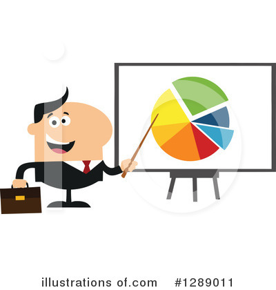 White Businessman Clipart #1289011 by Hit Toon