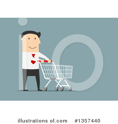 Shopping Cart Clipart #1357440 by Vector Tradition SM