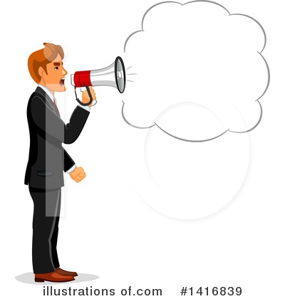 Businessman Clipart #1416839 by Vector Tradition SM