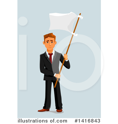 White Flag Clipart #1416843 by Vector Tradition SM