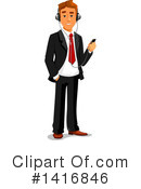Royalty-Free (RF) White Businessman Clipart Illustration #1416846