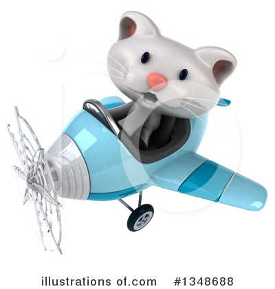 White Cat Clipart #1348688 by Julos