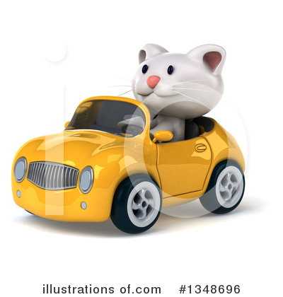 White Cat Clipart #1348696 by Julos