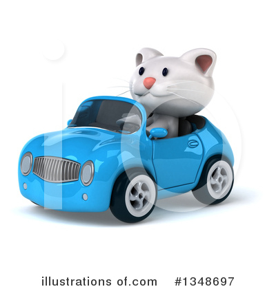 White Cat Clipart #1348697 by Julos