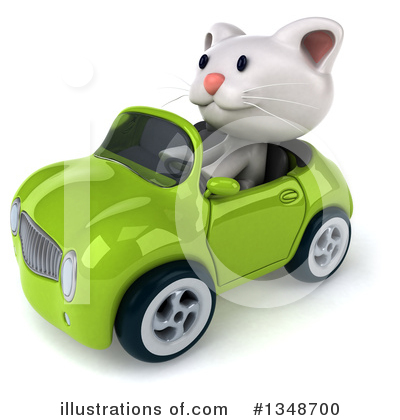White Cat Clipart #1348700 by Julos