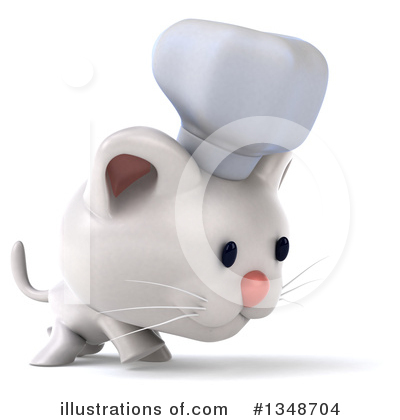 White Cat Clipart #1348704 by Julos