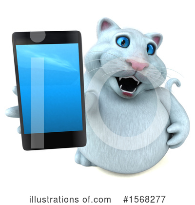 White Cat Clipart #1568277 by Julos