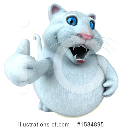 White Cat Clipart #1584895 by Julos