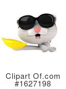 White Cat Clipart #1627198 by Julos