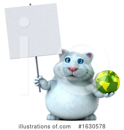 Royalty-Free (RF) White Cat Clipart Illustration by Julos - Stock Sample #1630578