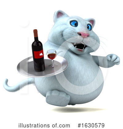 Royalty-Free (RF) White Cat Clipart Illustration by Julos - Stock Sample #1630579