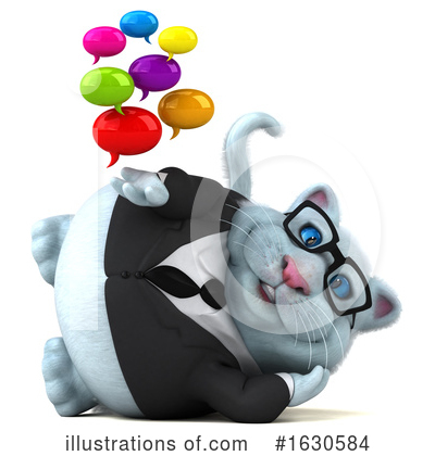 Royalty-Free (RF) White Cat Clipart Illustration by Julos - Stock Sample #1630584