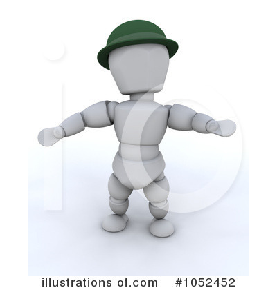 Royalty-Free (RF) White Character Clipart Illustration by KJ Pargeter - Stock Sample #1052452