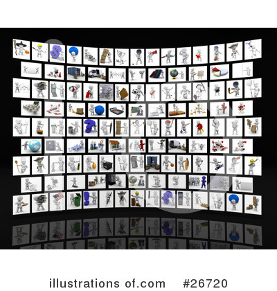 Royalty-Free (RF) White Character Clipart Illustration by KJ Pargeter - Stock Sample #26720