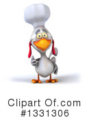 Royalty-Free (RF) White Chicken Clipart Illustration #1331306