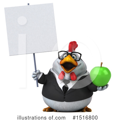Chubby White Chicken Clipart #1516800 by Julos