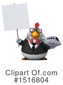Royalty-Free (RF) White Chicken Clipart Illustration #1516804