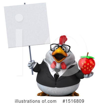Chubby White Chicken Clipart #1516809 by Julos