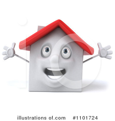 Royalty-Free (RF) White Clay Home Clipart Illustration by Julos - Stock Sample #1101724