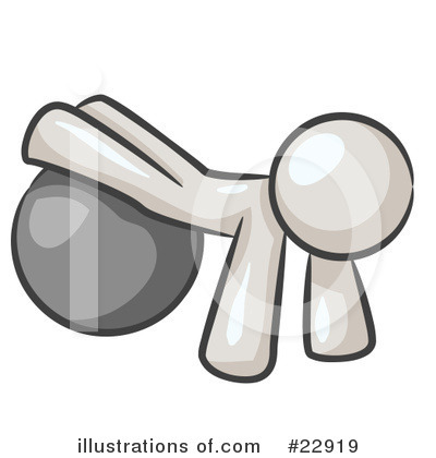 Royalty-Free (RF) White Collection Clipart Illustration by Leo Blanchette - Stock Sample #22919