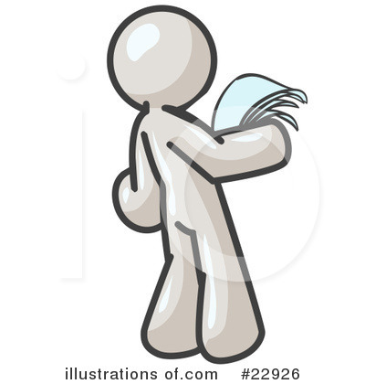 Reading Clipart #22926 by Leo Blanchette