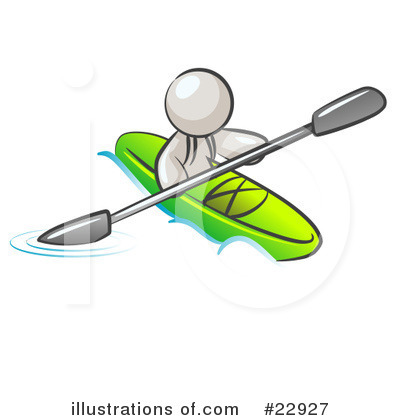 Kayaker Clipart #22927 by Leo Blanchette