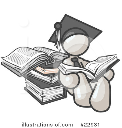 College Student Clipart #22931 by Leo Blanchette