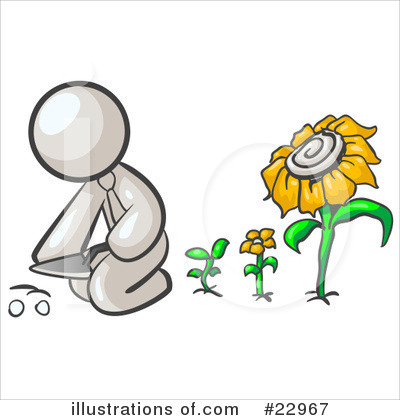Daisy Clipart #22967 by Leo Blanchette