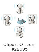 Royalty-Free (RF) White Collection Clipart Illustration #22995