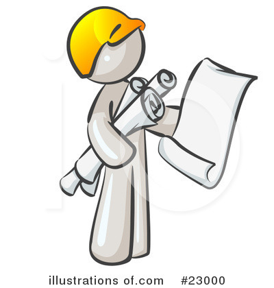Contractor Clipart #23000 by Leo Blanchette