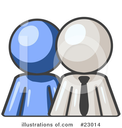 Blue Man Clipart #23014 by Leo Blanchette