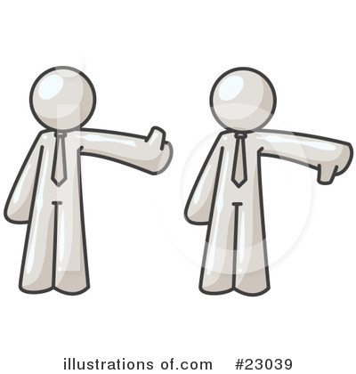 Thumbs Down Clipart #23039 by Leo Blanchette