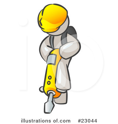 Contractor Clipart #23044 by Leo Blanchette