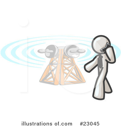 Communications Tower Clipart #23045 by Leo Blanchette
