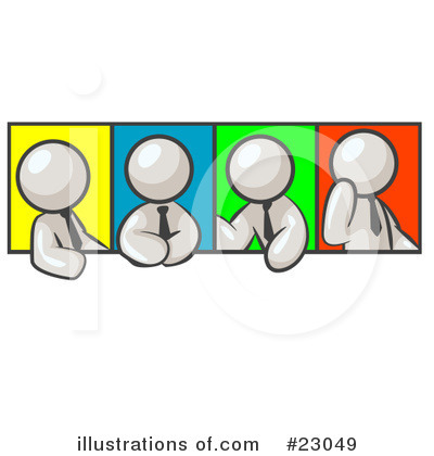 Colleagues Clipart #23049 by Leo Blanchette