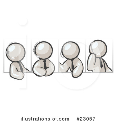 White Collection Clipart #23057 by Leo Blanchette