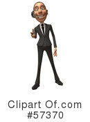 White Corporate Businessman Character Clipart #57370 by Julos
