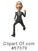 White Corporate Businessman Character Clipart #57379 by Julos