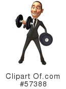 White Corporate Businessman Character Clipart #57388 by Julos