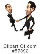 White Corporate Businessman Character Clipart #57392 by Julos