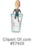 White Corporate Businessman Character Clipart #57403 by Julos