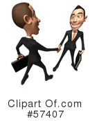 White Corporate Businessman Character Clipart #57407 by Julos