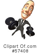 White Corporate Businessman Character Clipart #57408 by Julos