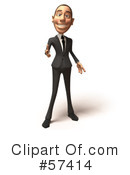 White Corporate Businessman Character Clipart #57414 by Julos