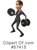 White Corporate Businessman Character Clipart #57415 by Julos