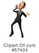 Royalty-Free (RF) White Corporate Businessman Character Clipart Illustration #57434