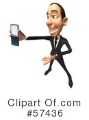 Royalty-Free (RF) White Corporate Businessman Character Clipart Illustration #57436