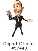 White Corporate Businessman Character Clipart #57443 by Julos
