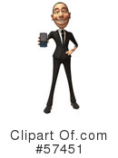 White Corporate Businessman Character Clipart #57451 by Julos